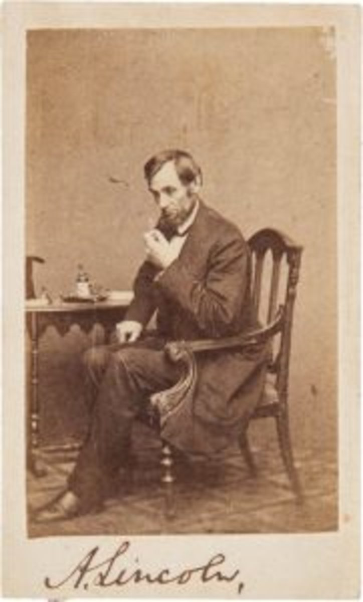 Abraham Lincoln carte de visite