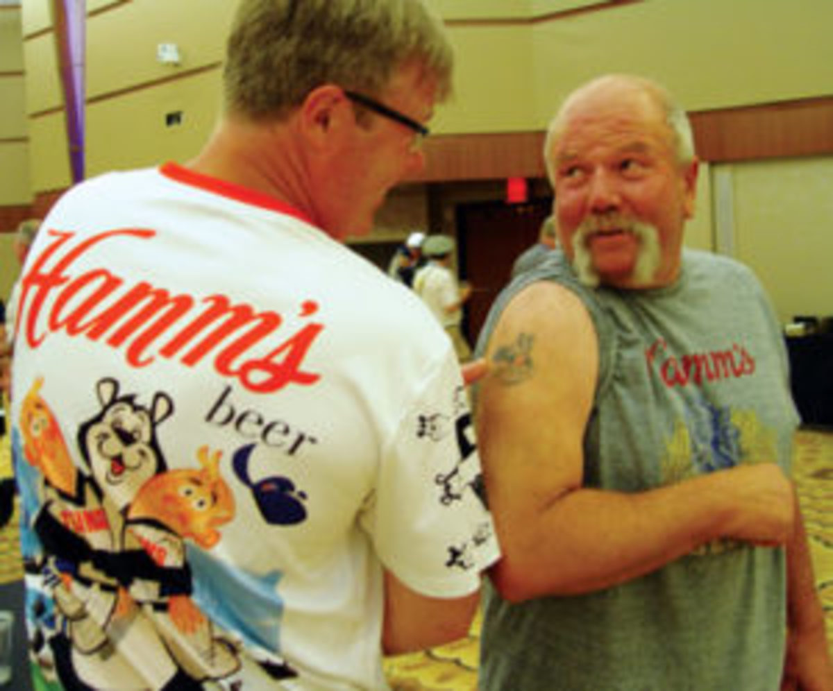 Steve Miner and Hamm's Beer Bear tattoo