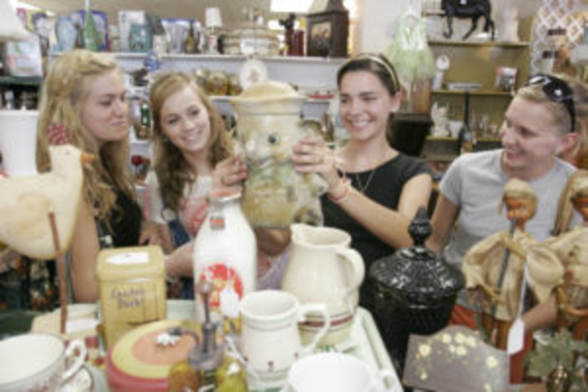 Teen girls discover the joy of antiquing at an antique mall.Photo by Jeffrey Greenberg/Universal Images Group via Getty Images