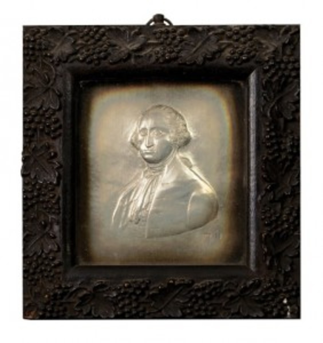 Silver George Washington plaque