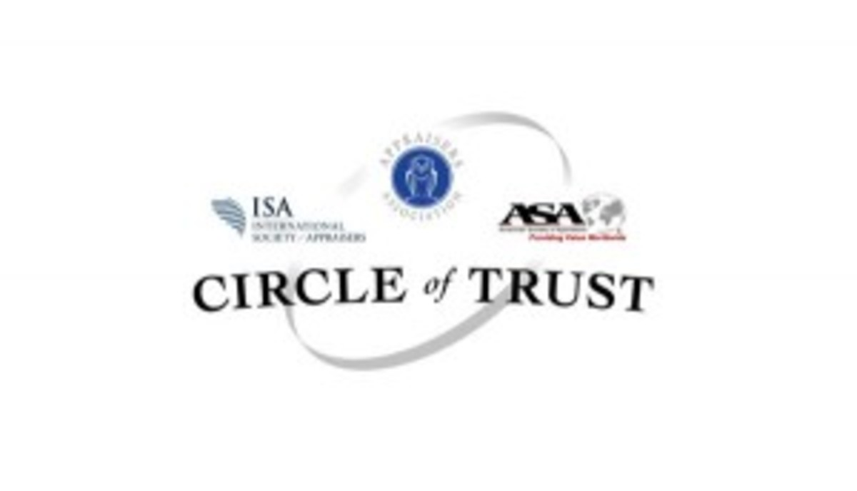"Appraisal organizations have banded together to create the ""Circle of Trust."""