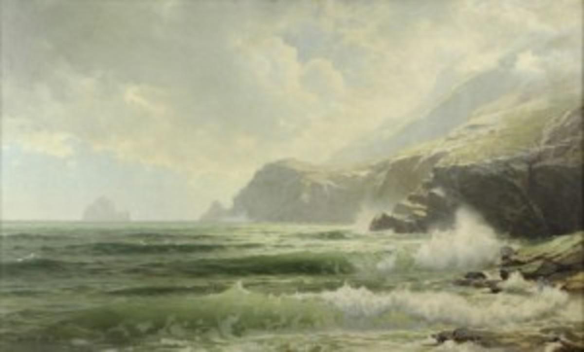 Irish coast painting