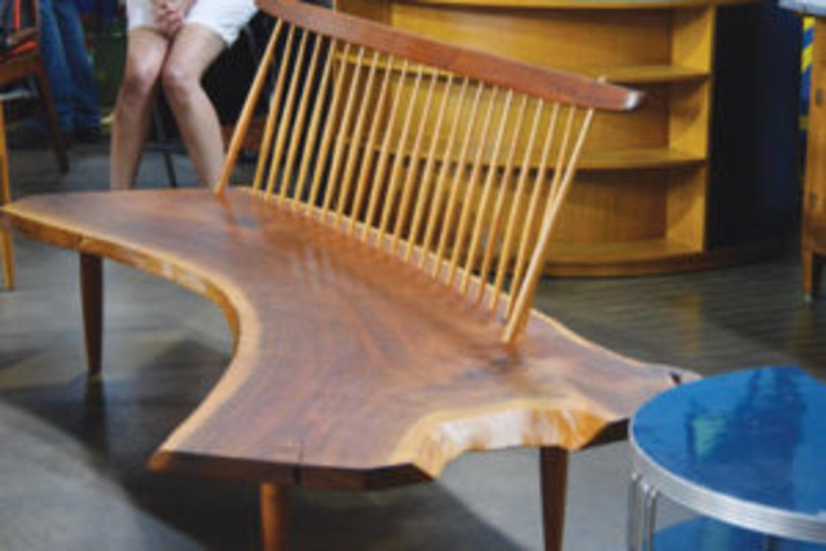 George Nakashima bench at Antiques Roadshow