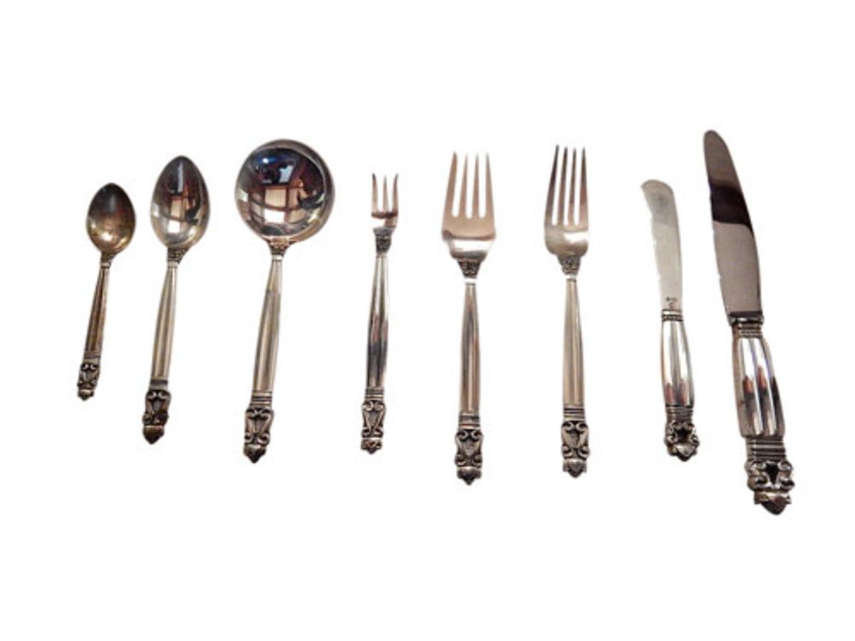 Jensen silver flatware