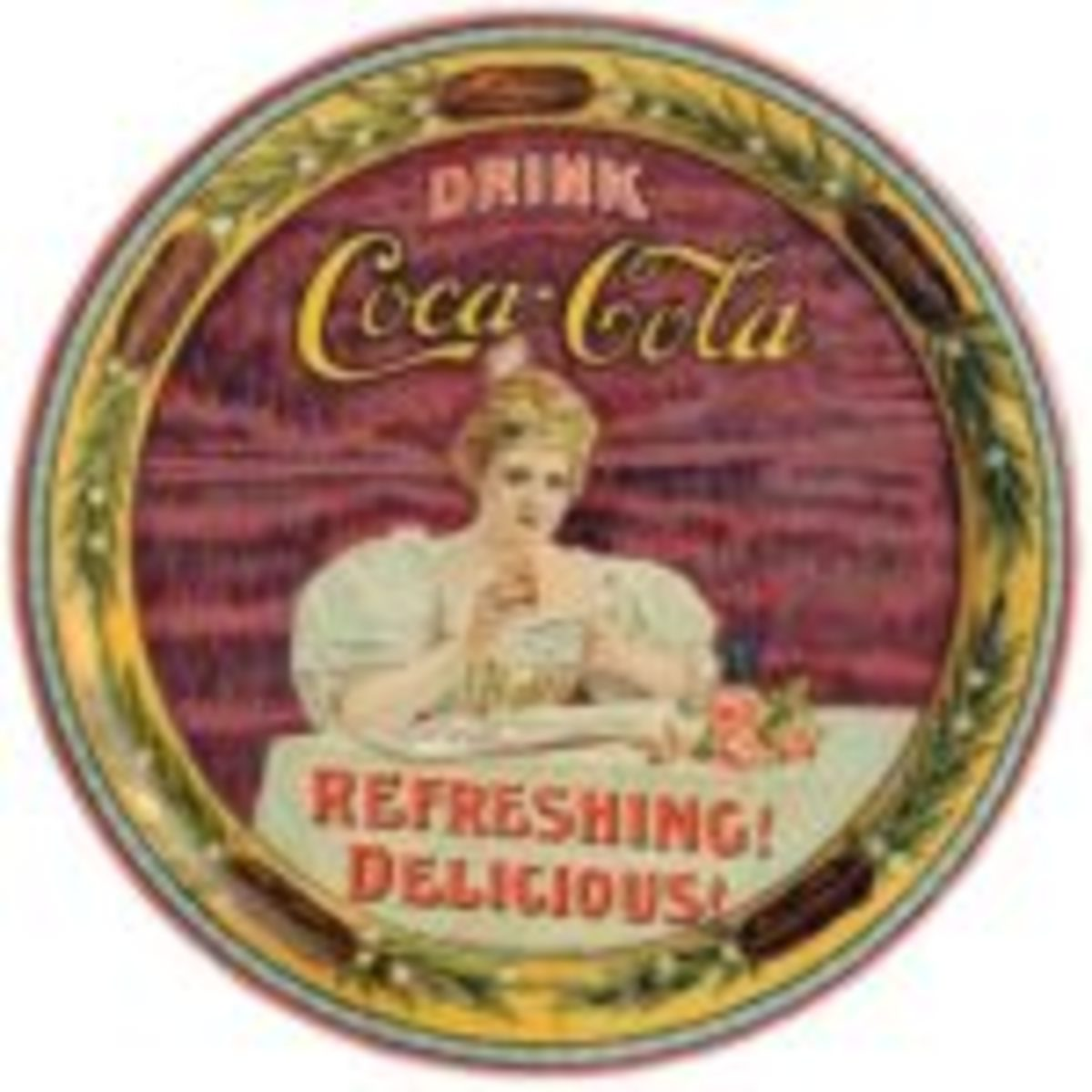 Figure 2: Original Coca-Cola tray as appearing in The Martin Guide to Coca-Cola Memorabilia (used with permission)