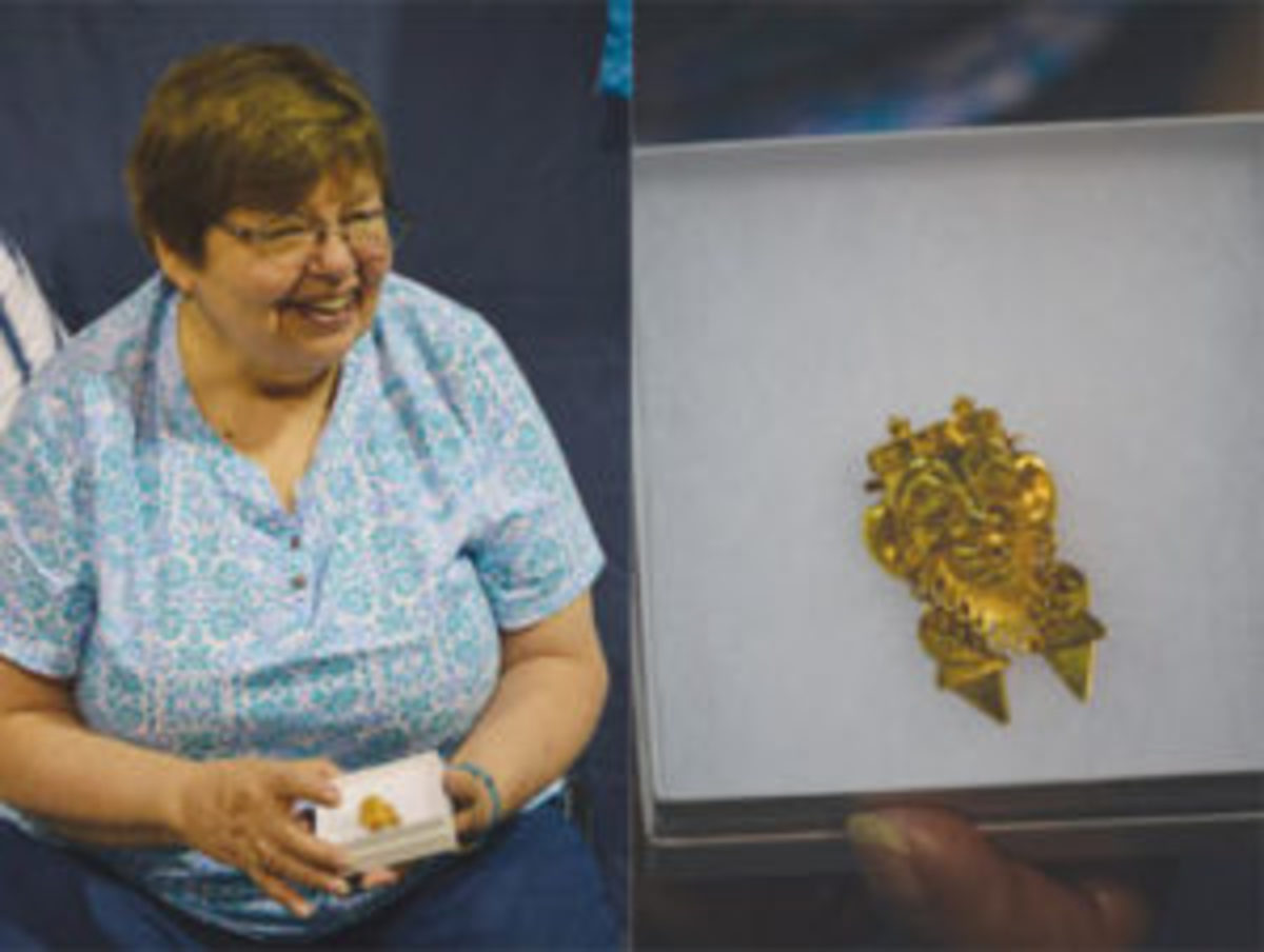 Kathleen and her brooch