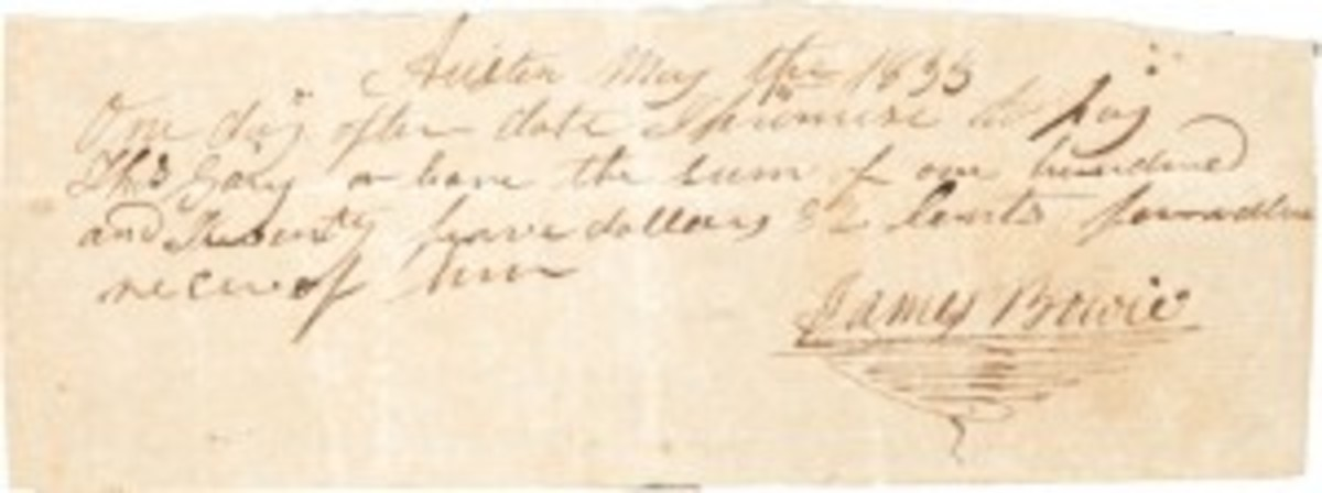Bowie promissory note