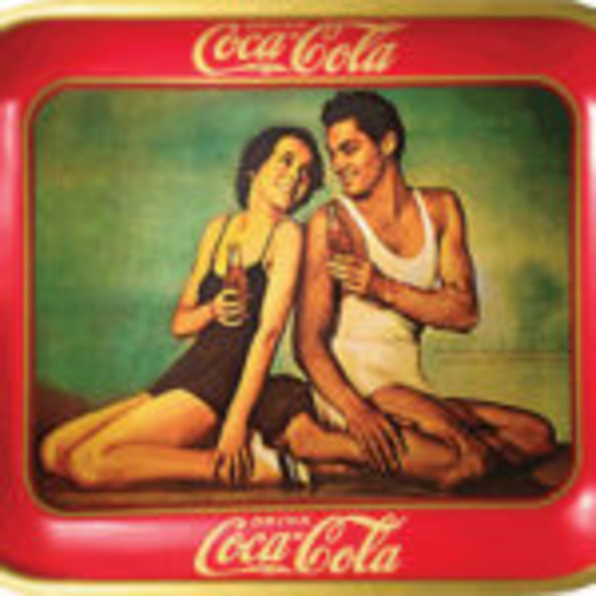 Figure 4: Reproduction Coca-Cola tray. From the Martin Guide to Coca-Cola Memorabilia (used with permission).