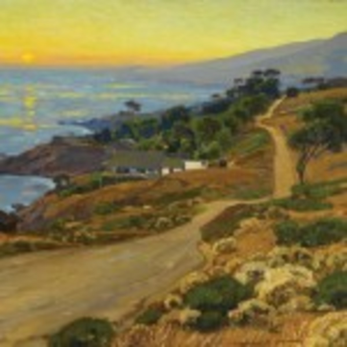 """""""The Old Coast Road"""" painting"""