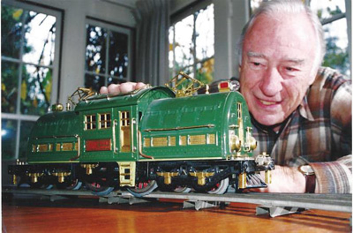 Warren Heid and toy train