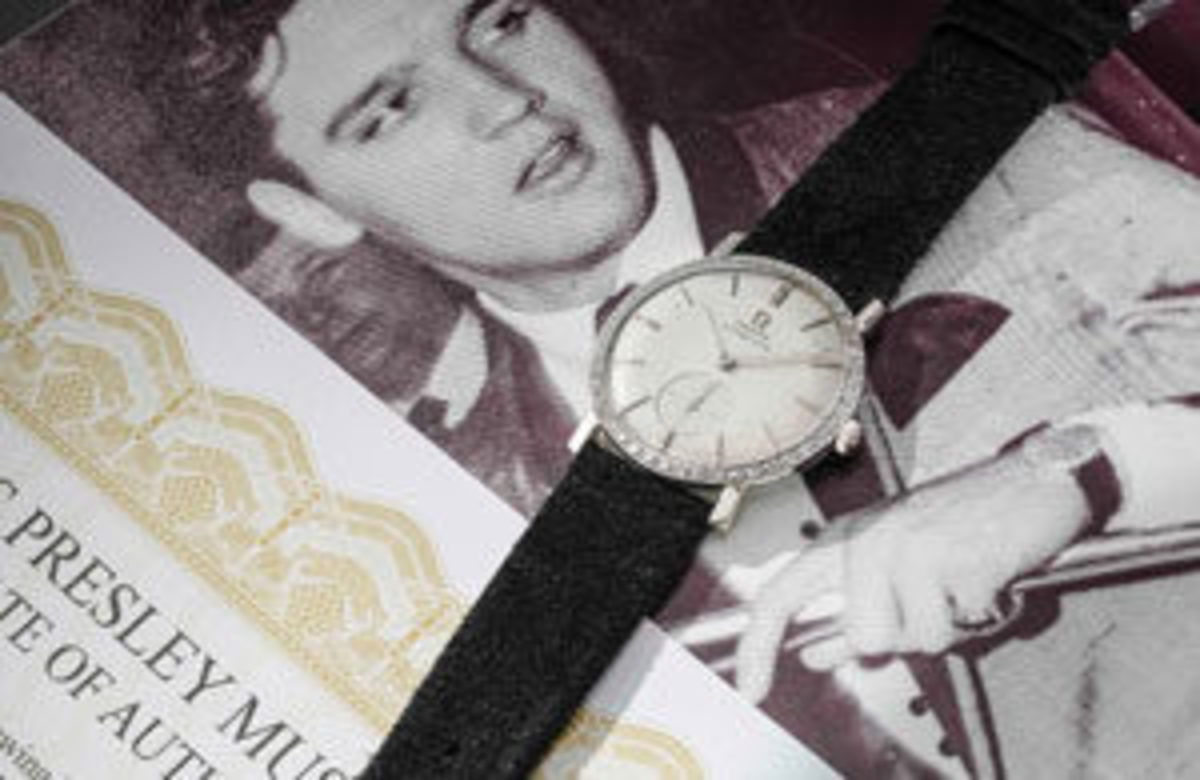 This Omega wristwatch smashed the auction record in 2018 for a piece of Elvis memorabilia, when it sold at Phillips in Geneva for $1.8 million. Philips said that Elvis was originally given the watch by RCA in 1960 to celebrate the sale of a remarkable 75 million records worldwide. But despite the personal significance, Elvis wasn't sentimental about the watch and gave it to a fan he met in a restaurant, after the gentleman casually mentioned that he liked his watch, and Elvis offered to swap it for the diamond-studded Hamilton he was wearing. The gentleman later passed the watch down to his nephew, who consigned it to auction – and Presley's legendary generosity ended up changing the life of one of his fans, more than 40 years after his death. Image courtesy of Phillips