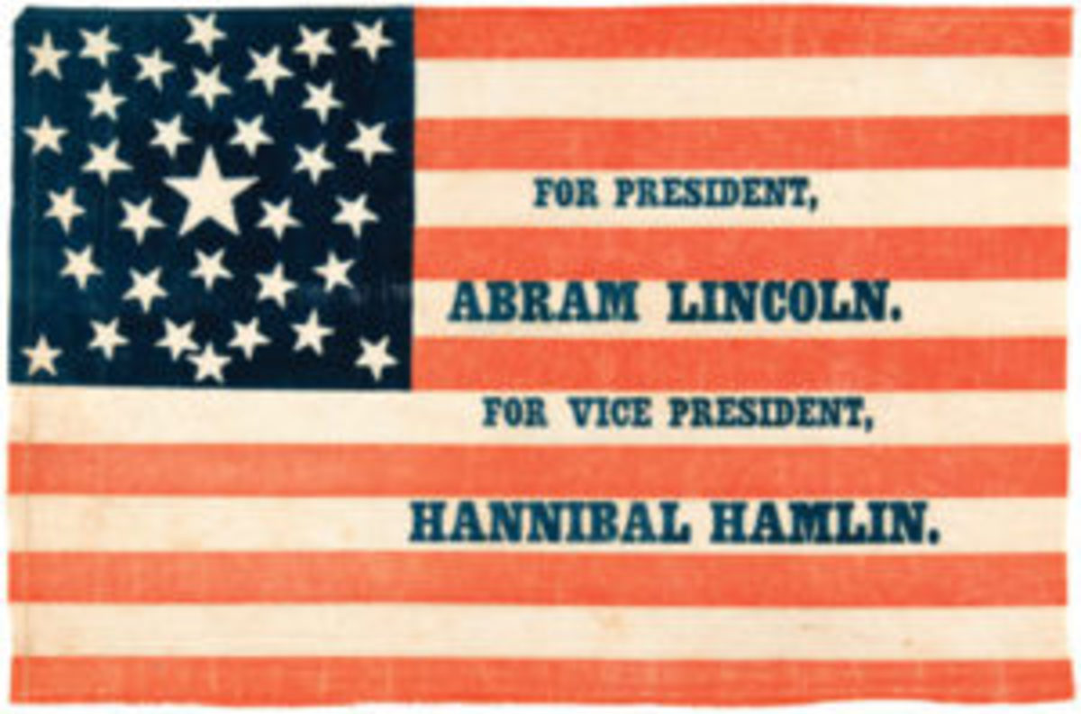 Abram Hannibal Civil War political campaign flag