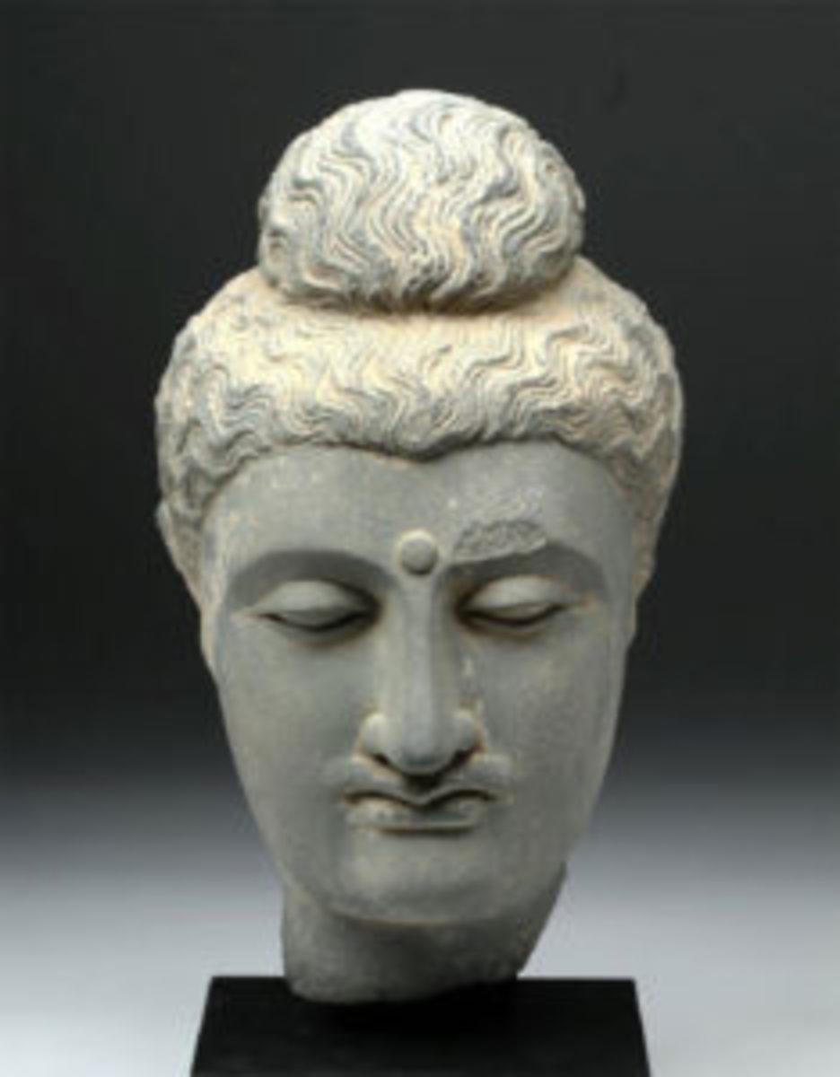 Buddha schist head