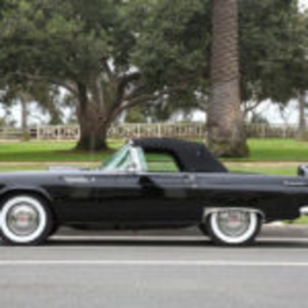 Marilyn Monroe's raven black 1956 Thunderbird is estimated to fetch $300,000-$500,000 at auction. Courtesy Julien's Auctions