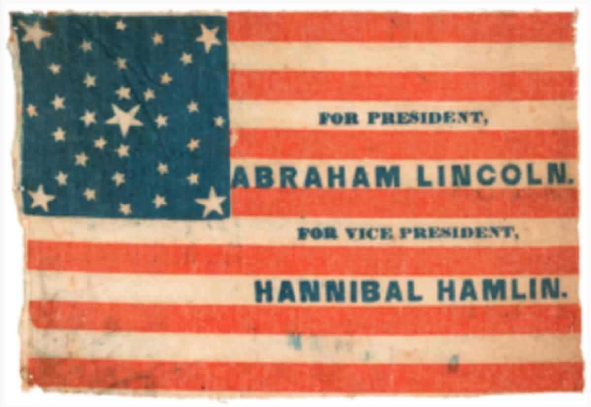 1860 campaign flag