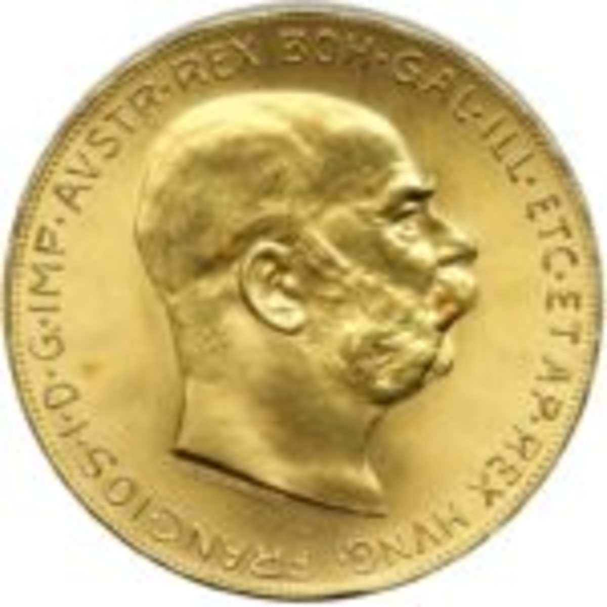 1915 Austrian gold coin with Franz Joseph I