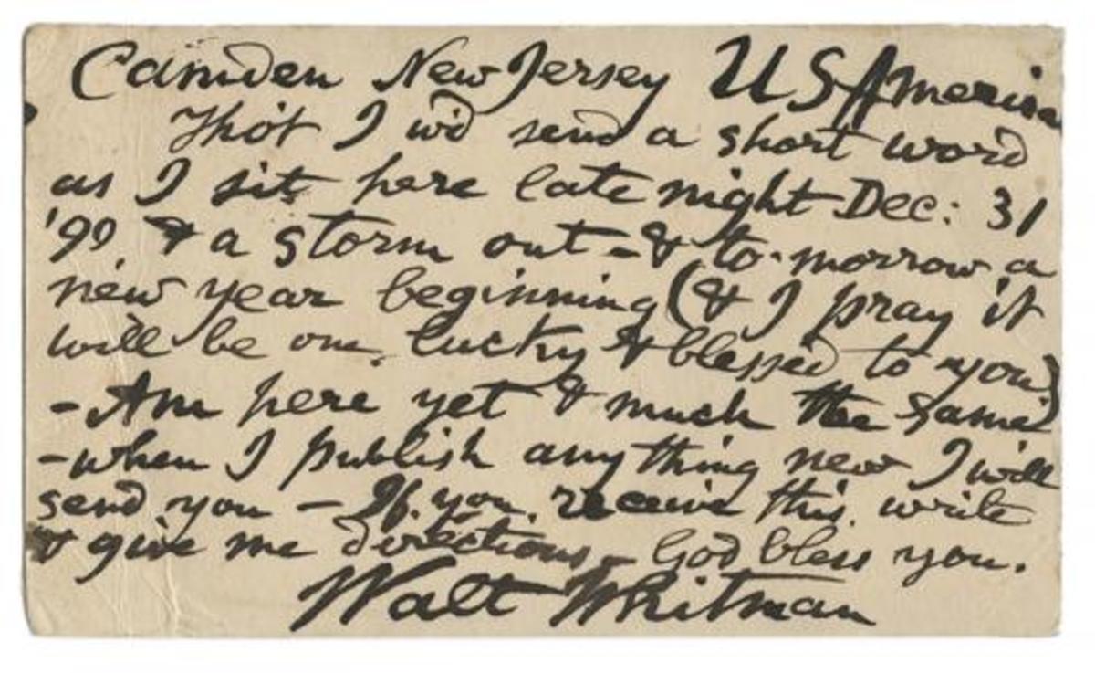 Walt Whitman postcard