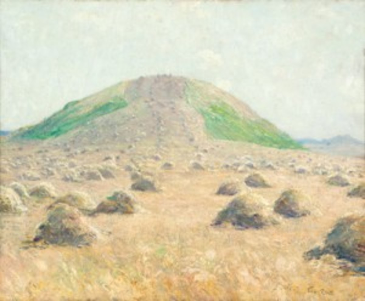 """Sierra Vista Hill"" painting"