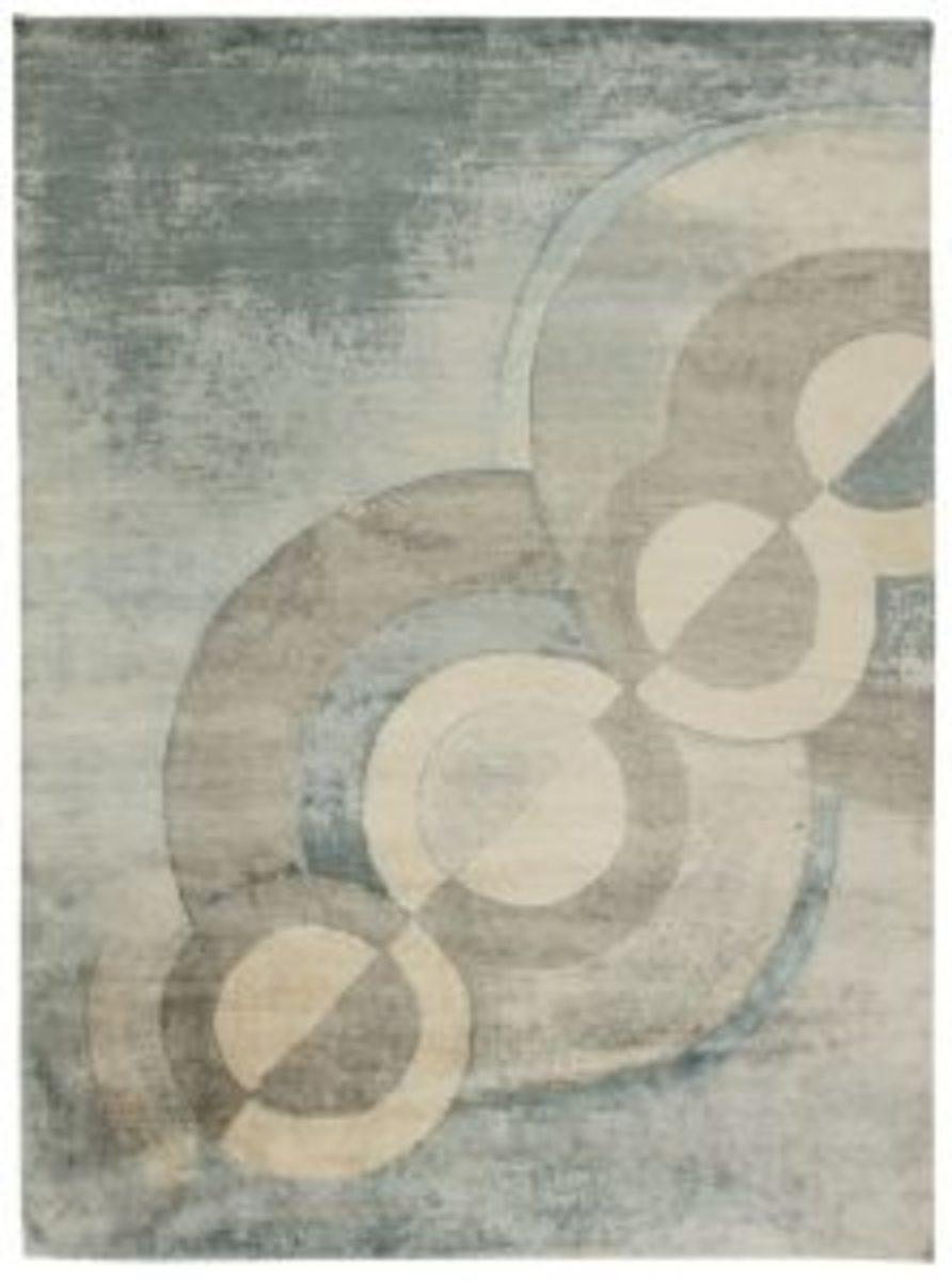 Celestial mohair rug