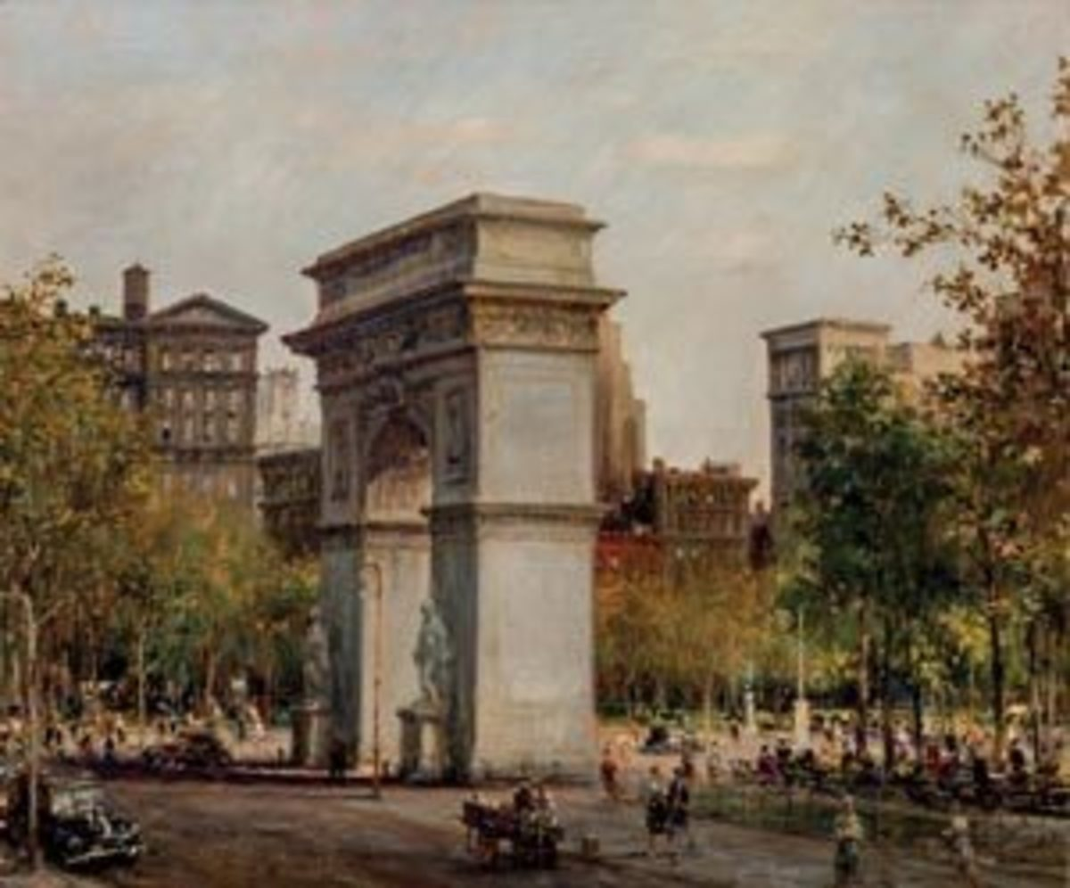 Alfred S. Mira, American (1900-1981), Washington Square Park