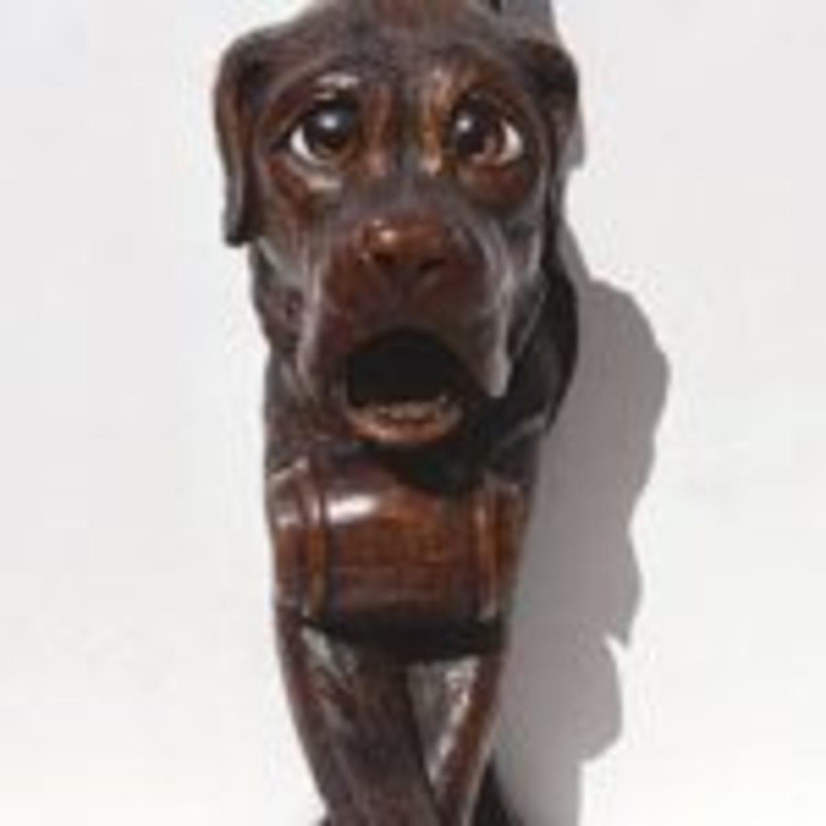 carved dog nutcracker