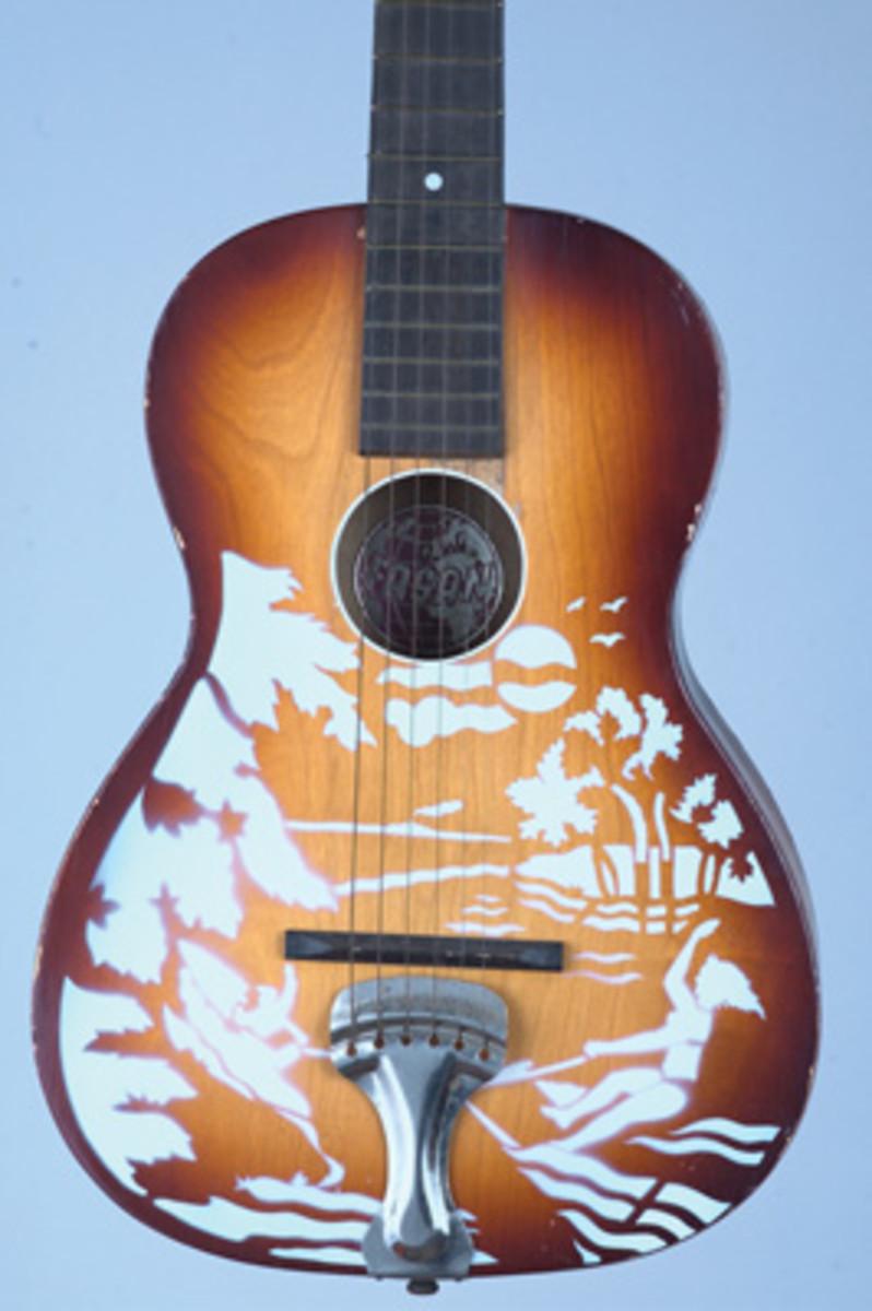 Western Scene art guitar