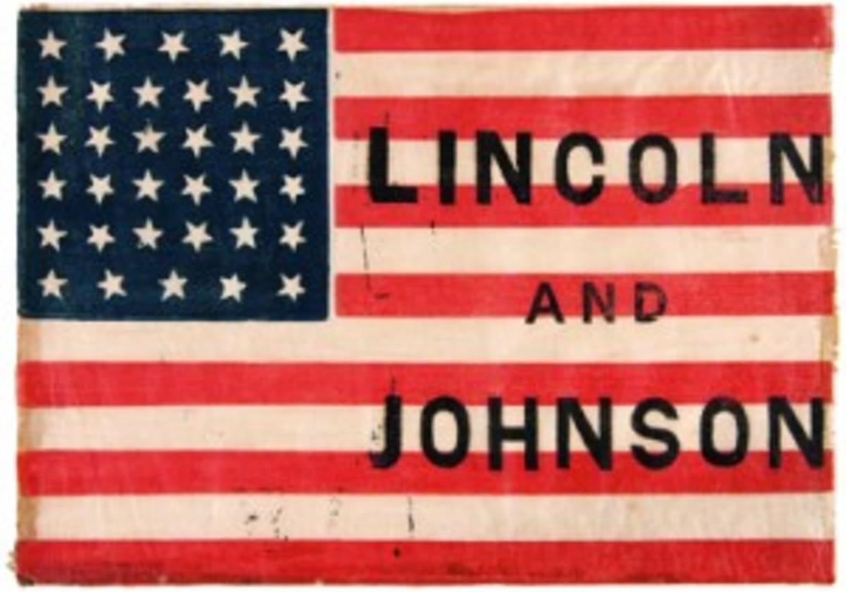 Lincoln/Johnson campaign flag