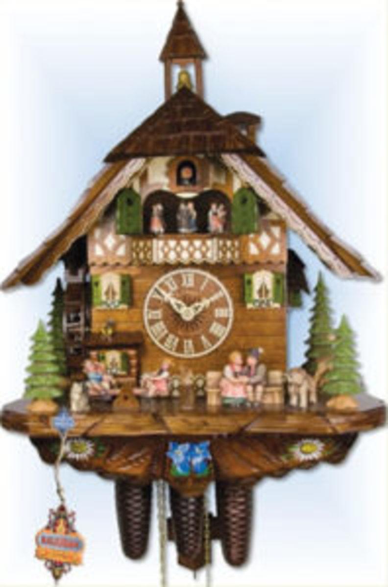 Happy Family cuckoo clock