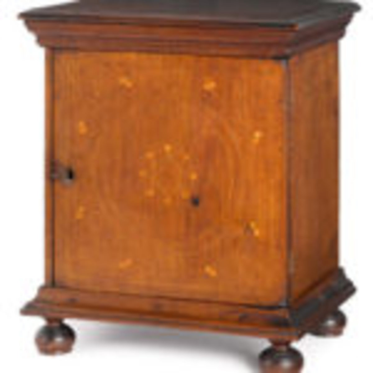 Chester County, Pennsylvaniawalnut spice chest, circa 1755, provenance: Titus Geesey, $67,100