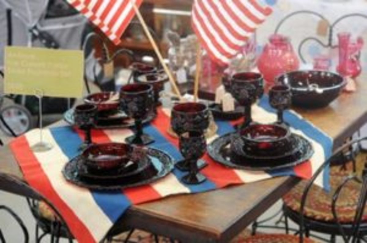 An antique ice cream parlor soda fountain set was available for sale for $850 atthe Scott Antique Markets Washington Court House show in June.