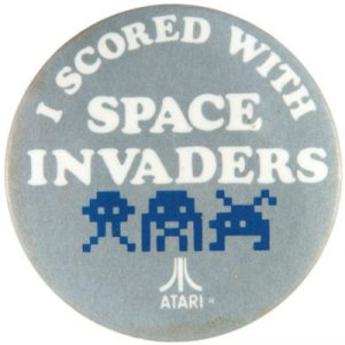 Space Invaders pinback
