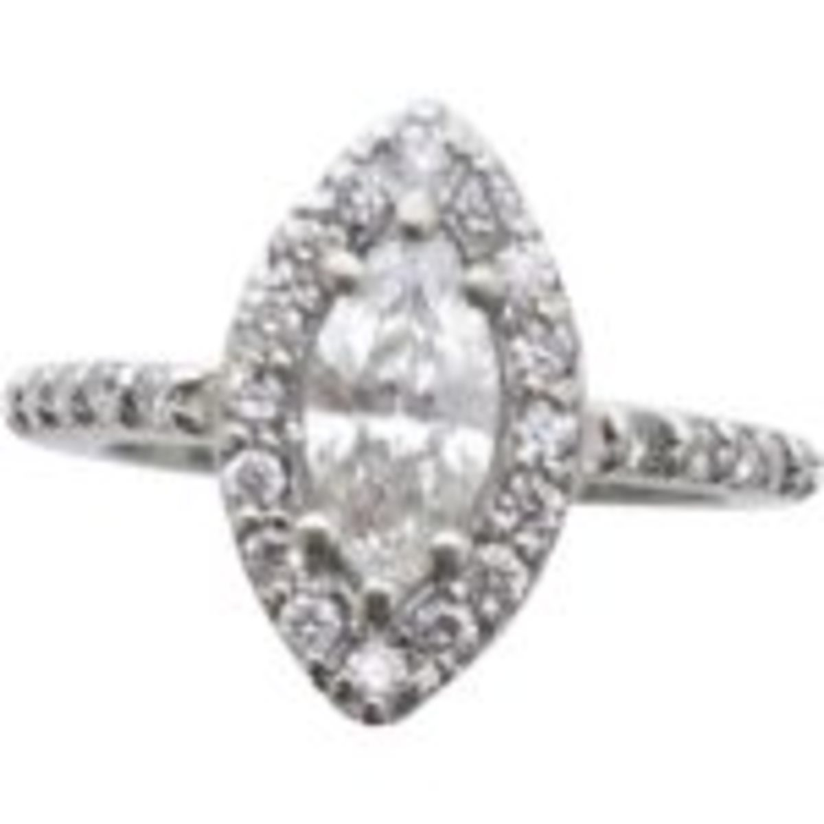 Modern marquis diamond engagement ring