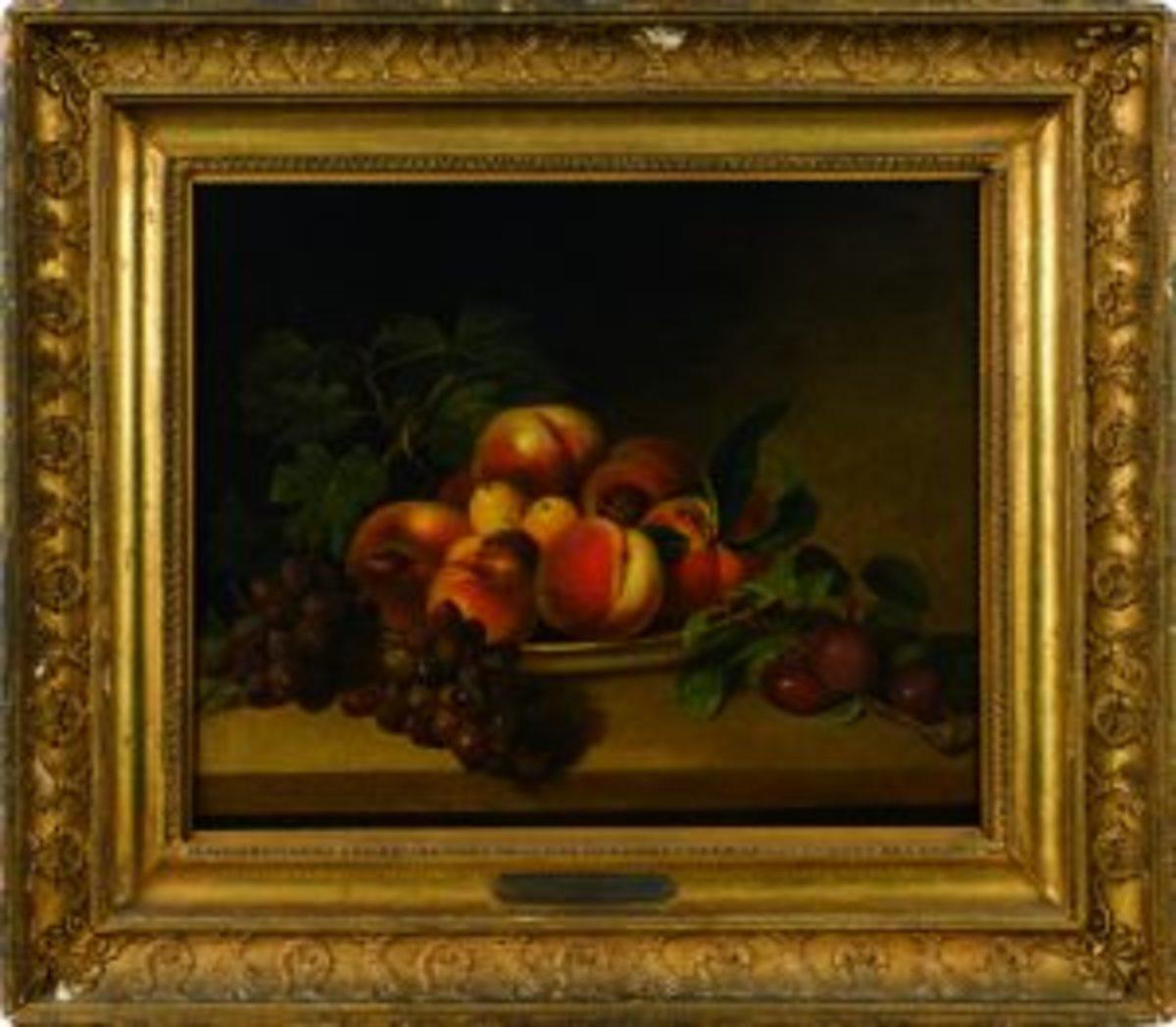 Peale Sr. still life fruit painting