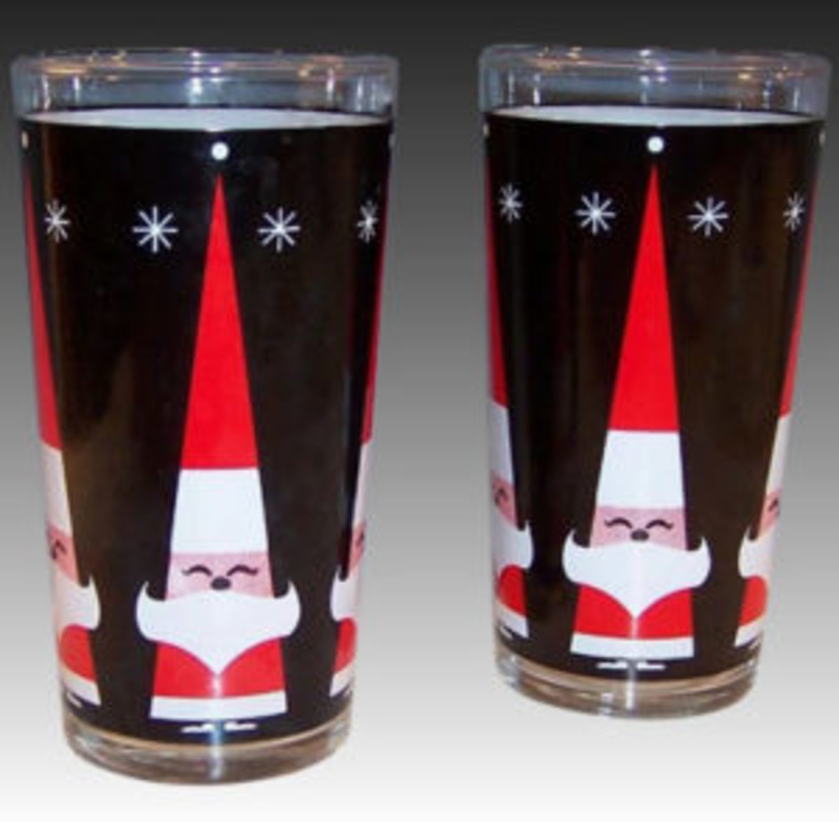 Holt Howard Christmas tumblers courtesy of Ruby Lane.
