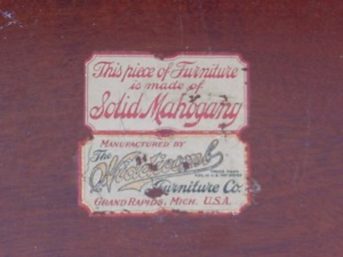 A sample of a trademark label found on Widdicomb furniture