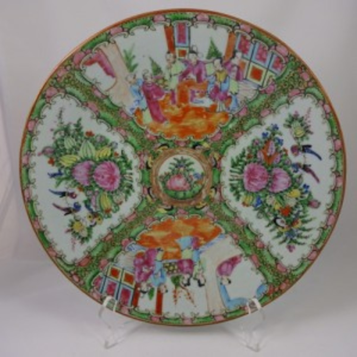 Rose Medallion chop plate