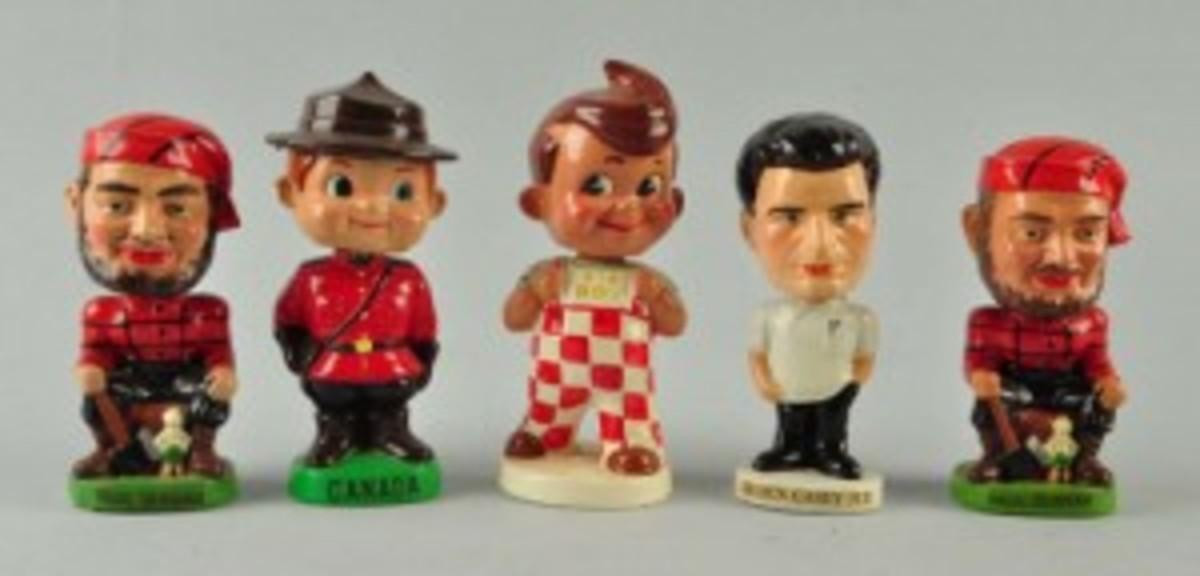 various bobbleheads
