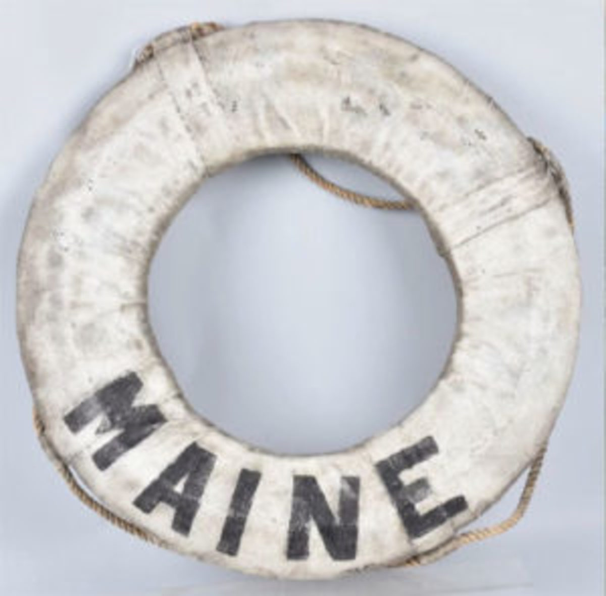 USS Maine preserver ring