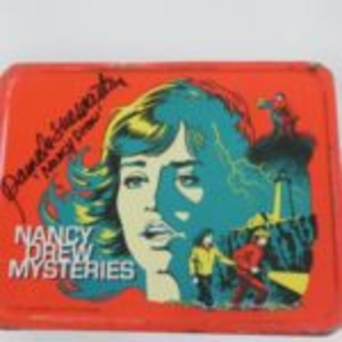 Nancy Drew lunchbox from 1970s TV show - signed by actress Pamela Sue Martin, who played Nancy in the series.