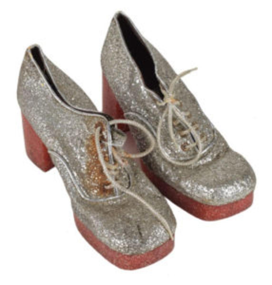 Glitter platform shoes