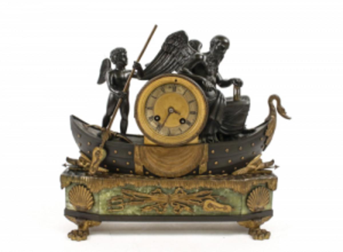 19th century parcel gilt bronze clock