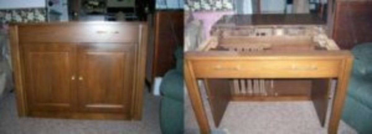 """This """"Expand-o-matic"""" table was made by Saginaw. The top drawer and frame of the cabinet pull out to provide the structure for a dining table. (Fred Taylor photo)"""