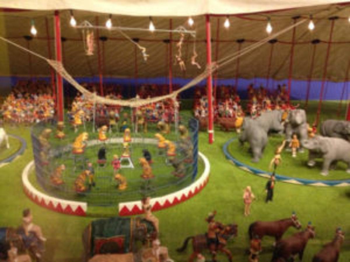 Circus ring set up