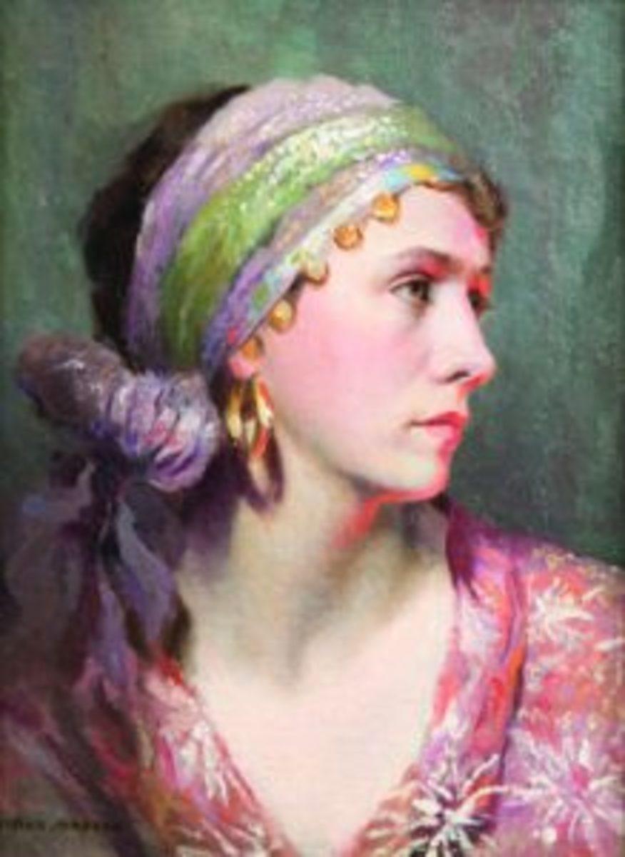 "Elmer Green ""Study"" painting"