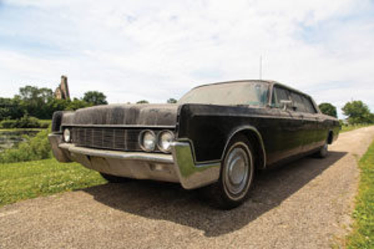 Seems a little too dusty and rundown to be fit for the King of Rock 'n' Roll, but in its heyday, this 1967 Lincoln Continental limo was the royal carriage for the Presley family. It sold at auction for $165,000. Images courtesy of Mecum Auctions