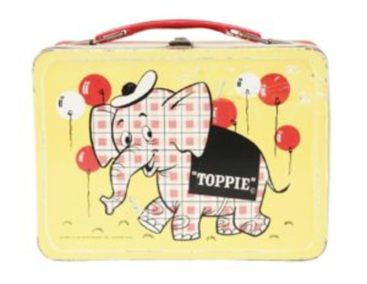 Scarce Toppie the Elephant lunch box.
