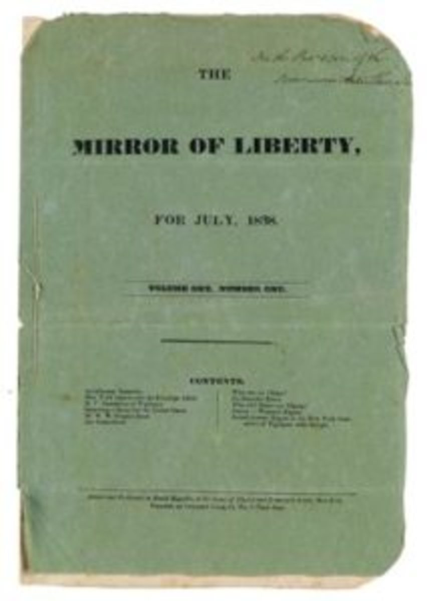 "David Ruggles, ""The Mirror of Liberty"", for July 1838, Volume One, Number One, New York, 1838. Sold for $37,500. Photos courtesy of Swann Galleries"