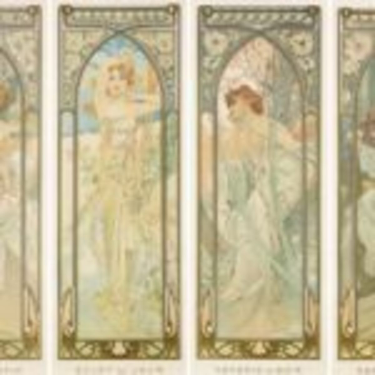 Alphonse Mucha Times of the Day posters