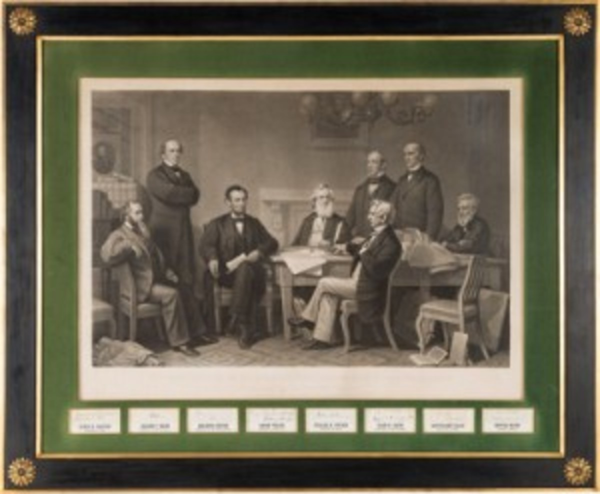 Lincoln and cabinet