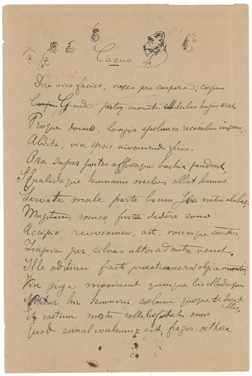 Autograph manuscript Hercules